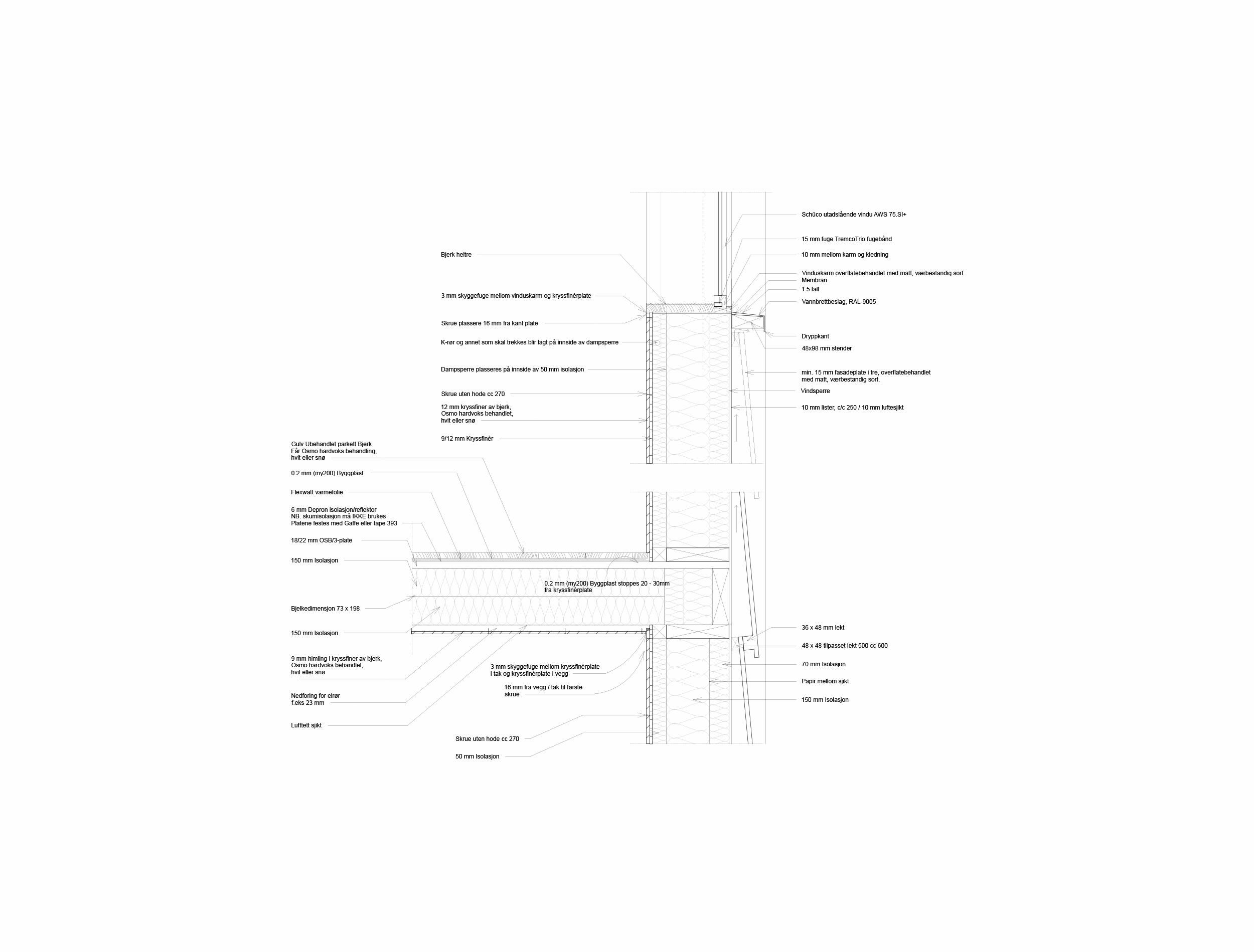 Forunderlig Arkitektur - 1604 - Detalj Vegg