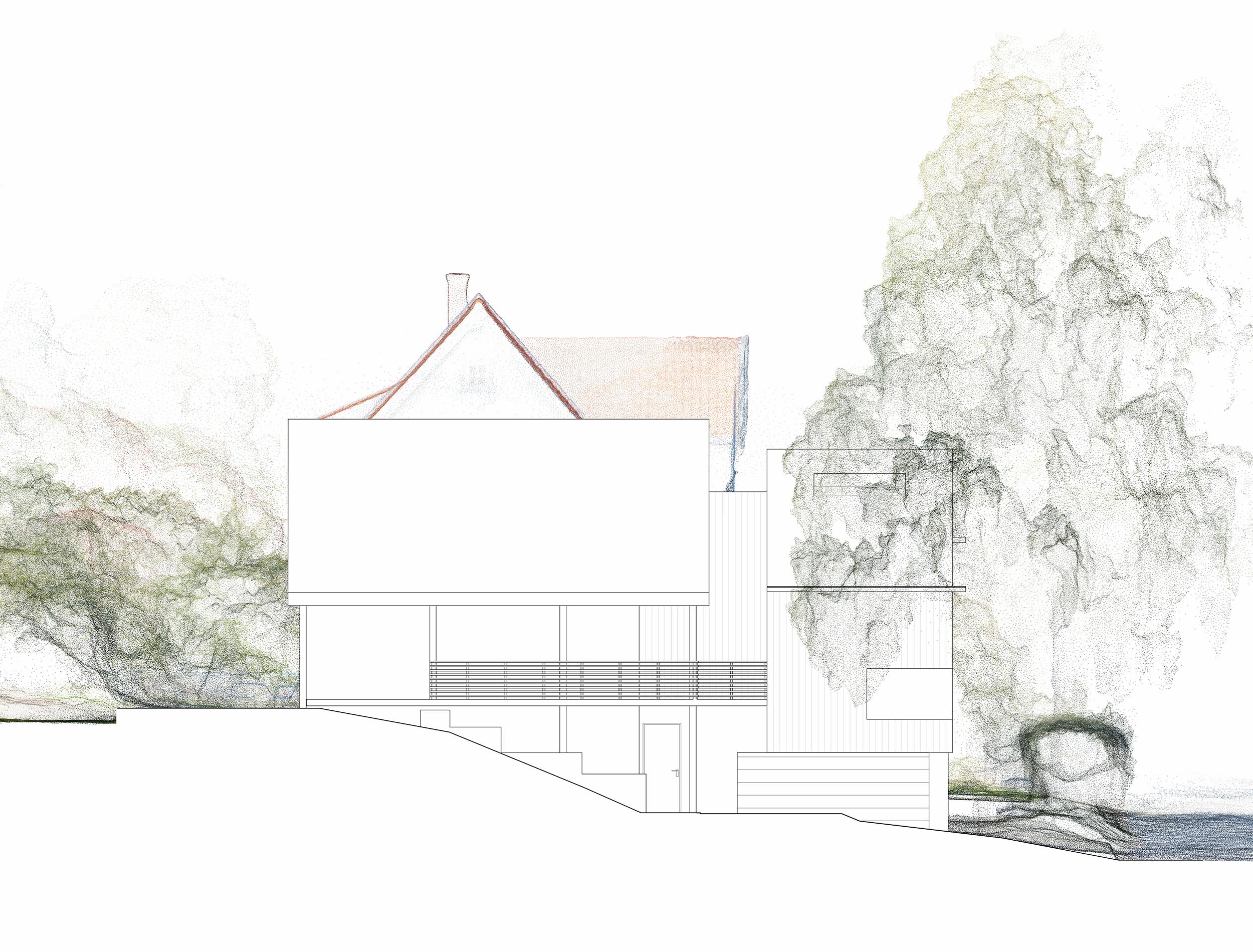 Forunderlig Arkitektur - 1603 - Fasade Sør